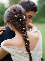 coiffure de mariée simple à réaliser