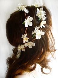 couronne de fleurs coiffure mariée